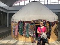 2019 09 29 Samarkand Museum Afrosiab Jurte mit Shop