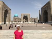 2019 09 29 Samarkand Registanplatz Jutta