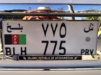 2019 10 01 Buchara Nummerntafel Afghanistan