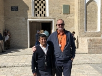2019 10 01 Usbekistan  Mausoleum Samaniden Unesco Historisches Zentrum von Buchara mit RL Abdulaziz