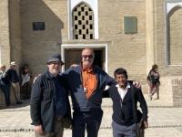 2019 10 01 Usbekistan  Mausoleum Samaniden Unesco Historisches Zentrum von Buchara mit beiden RL
