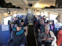 2019 10 02 Zugfahrt nach Taschkent gemütliche Sitze in unserer Klasse