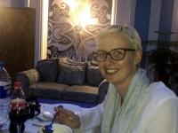 2019 10 03 Taschkent Abendessen im Fernsehturm Borschtsch Suppe