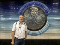 2019 10 03 Taschkent U_Bahn Station mit russ Kosmonauten Juri Gagarin