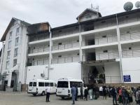 2019 10 08 Hotel Kapriz Resort am Issyk Kul See Aussenansicht