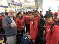 2019 10 11 Flughafen Bischkek Fussball Nationalmannschaft Myanmar