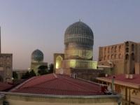 2019 09 28 Samarkand Blick auf die Bibi Khanum Moschee vom Restaurant