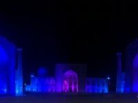 2019 09 28 Samarkand Registanplatz Lichtershow