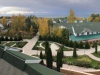 2019 10 08 Hotel Kapriz Resort am Issyk Kul See vom Balkon