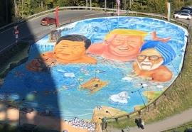 Weltgrösstes 3D Gemälde für Umwelt und Klimaschutz