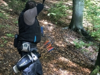 Bogenschütze im Wald