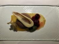 Schokomouseekuppel mit Sauerkirschen