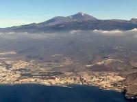 2019 10 19 Landeanflug Teneriffa mit Teide