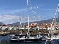 2019 10 24 U_Boot Fahrt Hafen von San Miguel mit Flugzeug