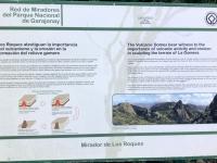 Spanien Nationalpark Garajonay Kanaren auf Insel La Gomera Tafel 1
