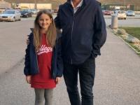 2019 11 24 Autobahnraststätte Marche mit Friedenslichtkind Victoria