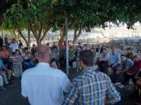 2019 11 29 Kapernaum Stadt Jesus Verteilung der Pilgerurkunden