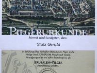 Pilgerurkunde Gerald