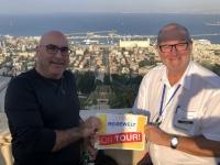 2019 11 28 Haifa mit Blick auf die Bahai Gärten mit RL Ameed Reisewelt on Tour