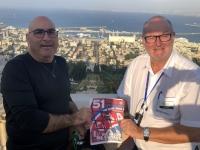 2019 11 28 Haifa mit Blick auf die Bahai Gärten und RL Ameed FC Bayern Magazin