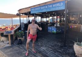 2019 11 25 Kalia Beach am Toten Meer tiefstgelegene Bar der Welt