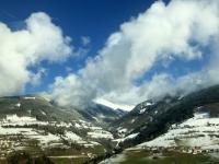 Fahrt auf der Brennerautobahn Richtung Norden