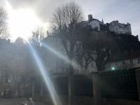Festung Hohensalzburg im Sonnenschein