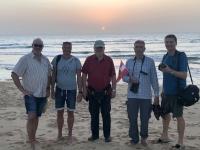 2020 02 11 Lagune Sonnenuntergang auf Sandbank