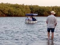 2020 02 11 Lagune zu Fuss zum Boot