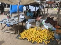 2020 02 12 Ngueniene Wochenmarkt Zitronenhändler