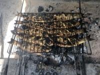 2020 02 12 Saloum Delta Mittagessen mit gegrillten Fischen