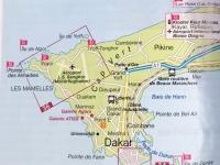 2020 02 14 Rechts unten von Dakar liegt die Insel Goree