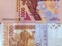 Senegal Währung CFA Franc BCEAO 1000 sind ca 1 Euro 50 Cent