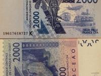 Senegal Währung CFA Franc BCEAO 2000 sind ca 3 Euro