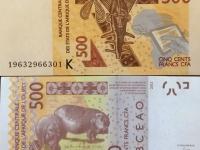 Senegal Währung CFA Franc BCEAO 500 sind ca 70 Cent