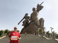 2020 02 14 Dakar Denkmal der afrikanischen Wiedergeburt Reisewelt on Tour