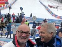 Pum Hans ehemaliger ÖSV Sportdirektor im Zielgelände