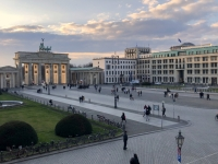 2020 03 04 Blick vom Hotel Adlon auf das Brandenburger Tor