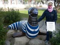 2020 07 05 Norderney auch der Seehund Fernando trägt Maske