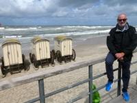 2020 07 06 Norderney Badestrand Weisse Düne Umkleidewägen