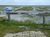 2020 07 06 Norderney Ostheller Dünenwanderung  Weg gesperrt