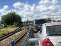2020 07 08 Abfahrt in Niebüll mit dem blauen Autozug