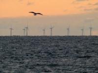 2020 07 08 Westerland auf Sylt Offshore Windräder in der Nordsee