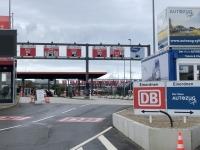 2020 07 10 Auffahrt auf den blauen Autozug in Westerland