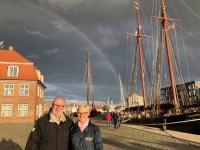 2020 07 10 Wismar Regenbogen im alten Hafen