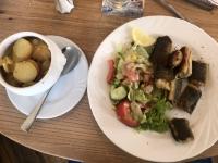 2020 07 11 Wismar Abendessen Aal mit Bratkartoffeln