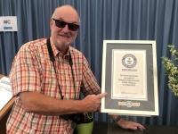 2020 07 13 Binz Sand Festival Guiness Urkunde für höchste Sandburg der Welt