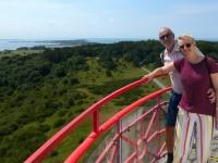 2020 07 14 Insel Hiddensee Leuchtturm Dornbusch im Ort Kloster