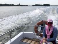 2020 07 14 Insel Hiddensee Wassertaxifahrt mit Maske