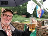 2020 07 15 Schifffahrt auf der Müritz Prost auch im Regen